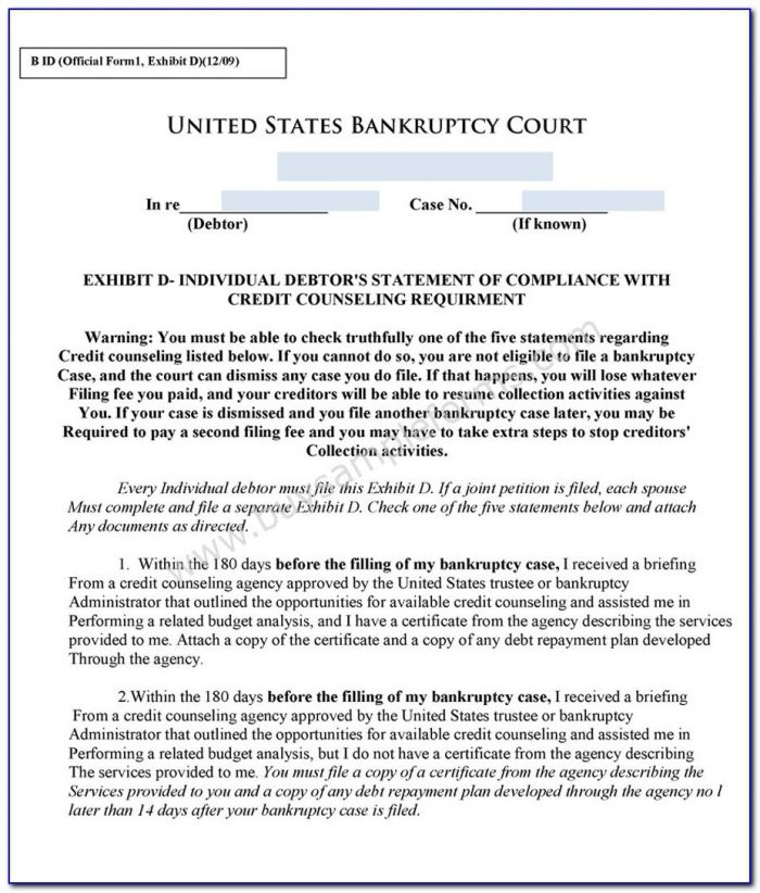 Northern District Of Florida Bankruptcy Forms