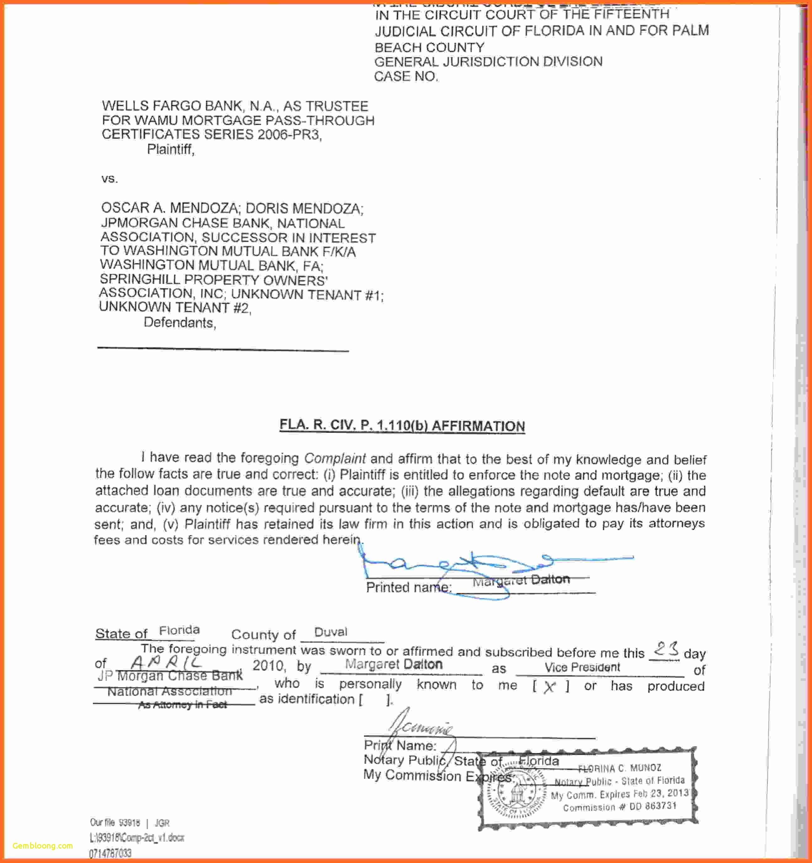 Notary Acknowledgement Form Minnesota