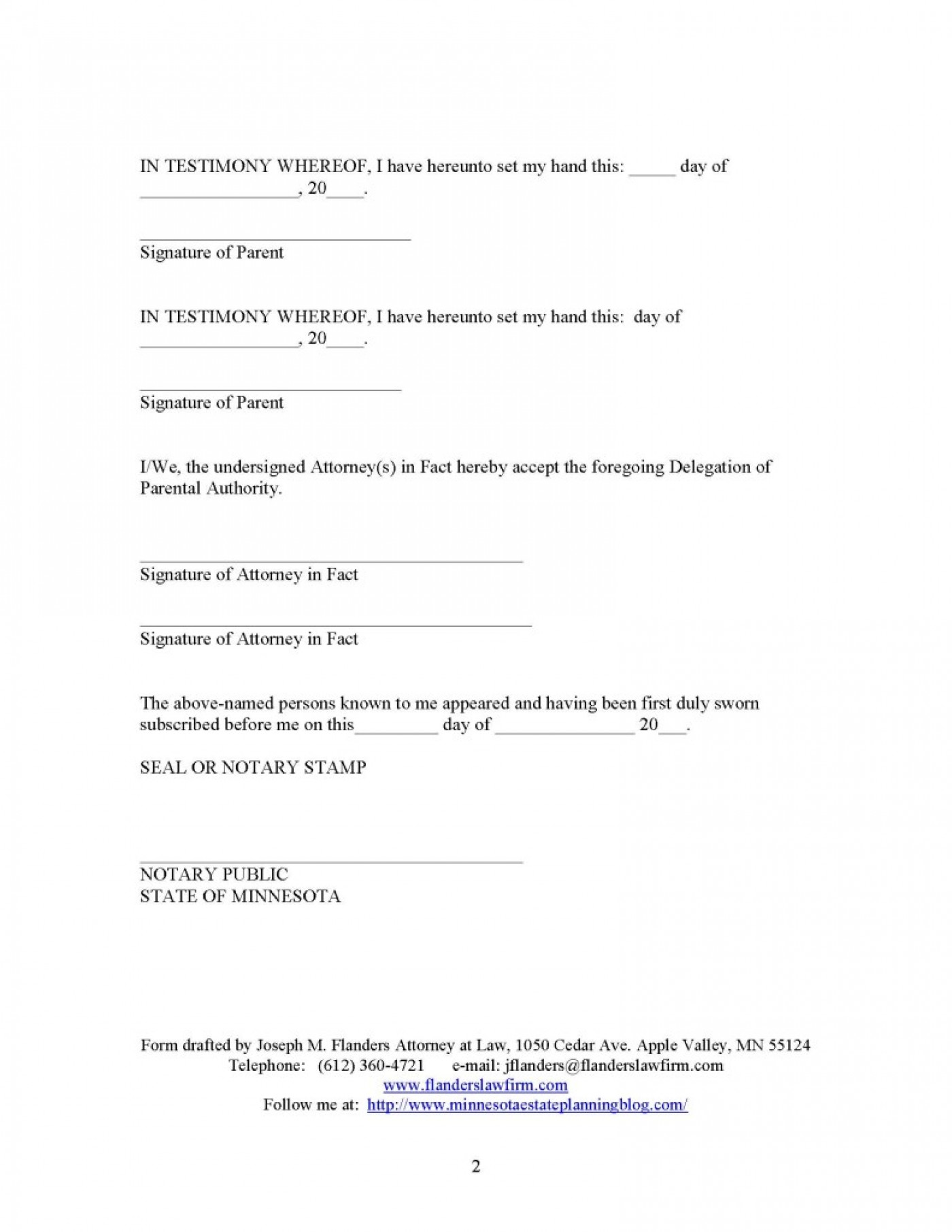 Notary Acknowledgment Form Washington State