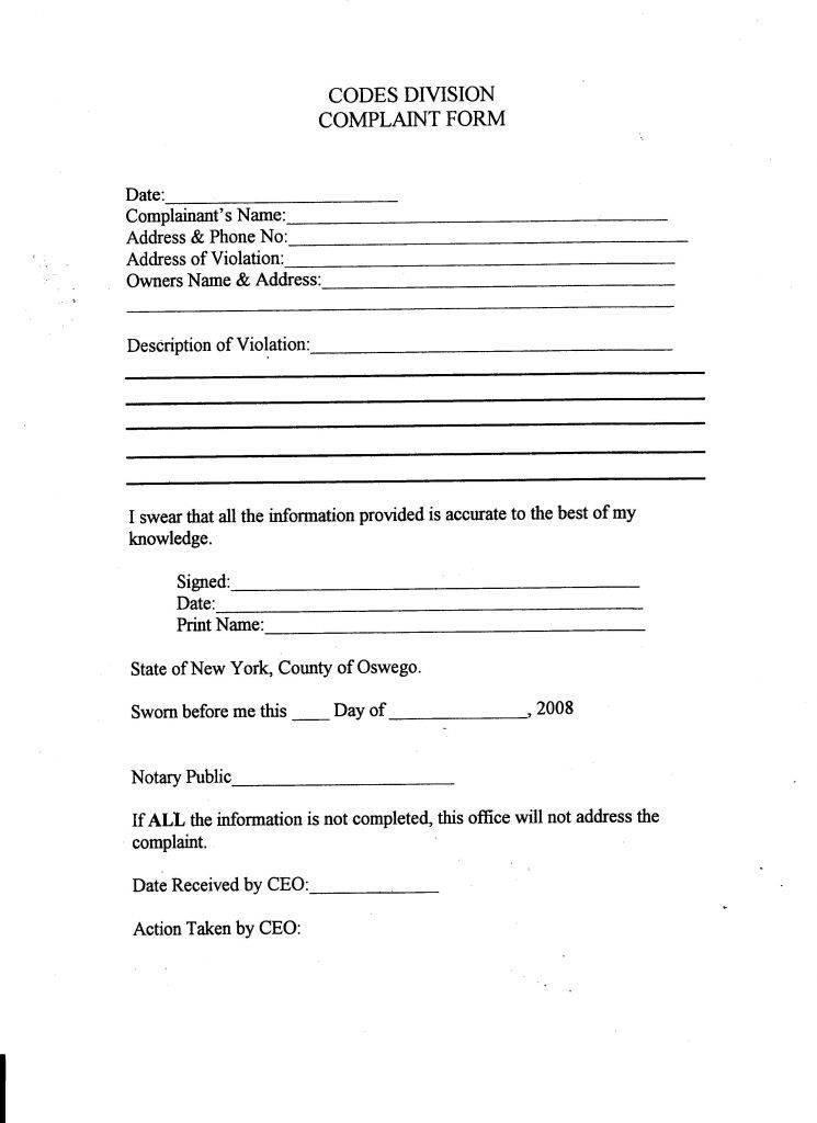 Notary Affidavit Form Ct