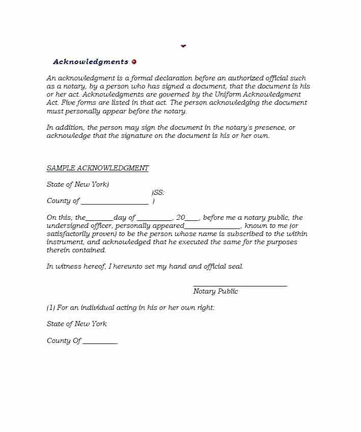 Notary Affidavit Format For Name Change
