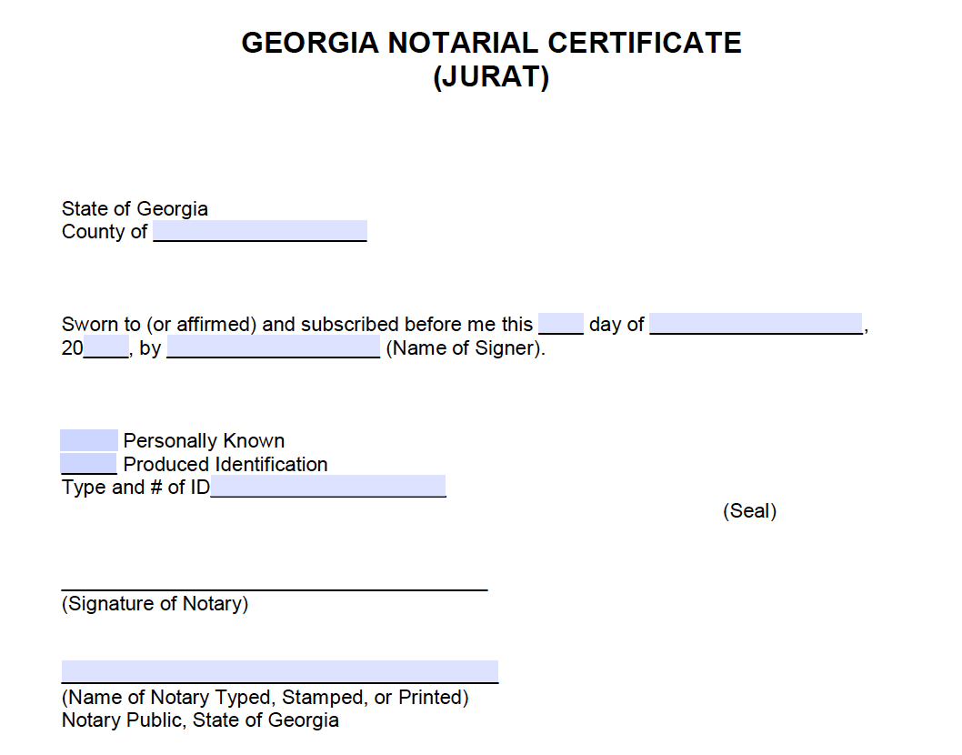 Notary Application Form Georgia