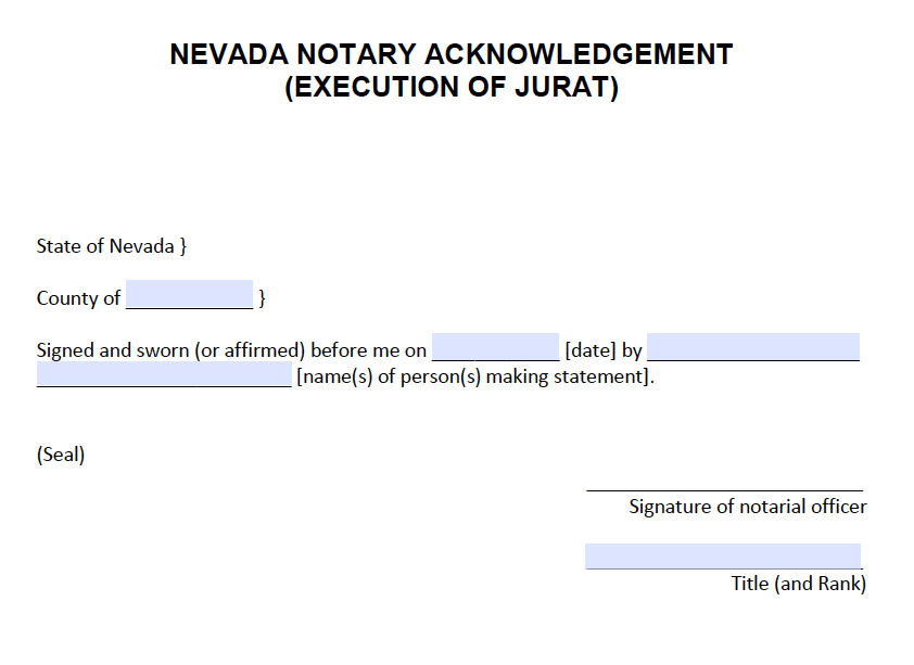 Notary Application Form Nevada