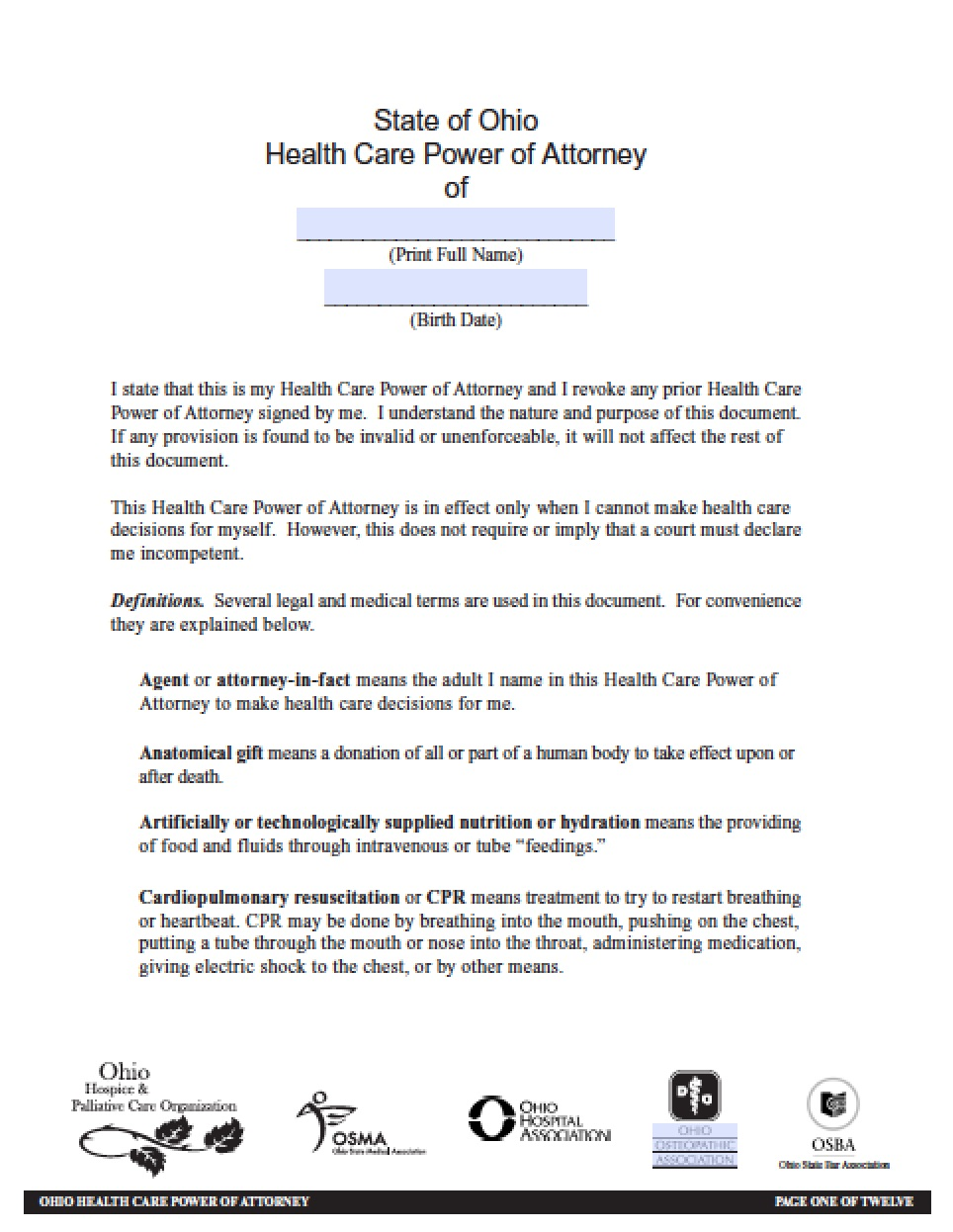 Notary Application Form Ohio