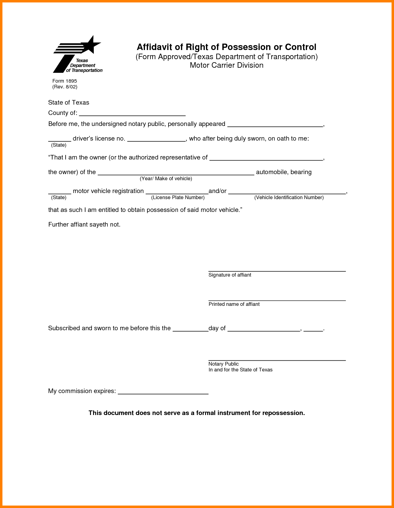 Notary Application Form Texas