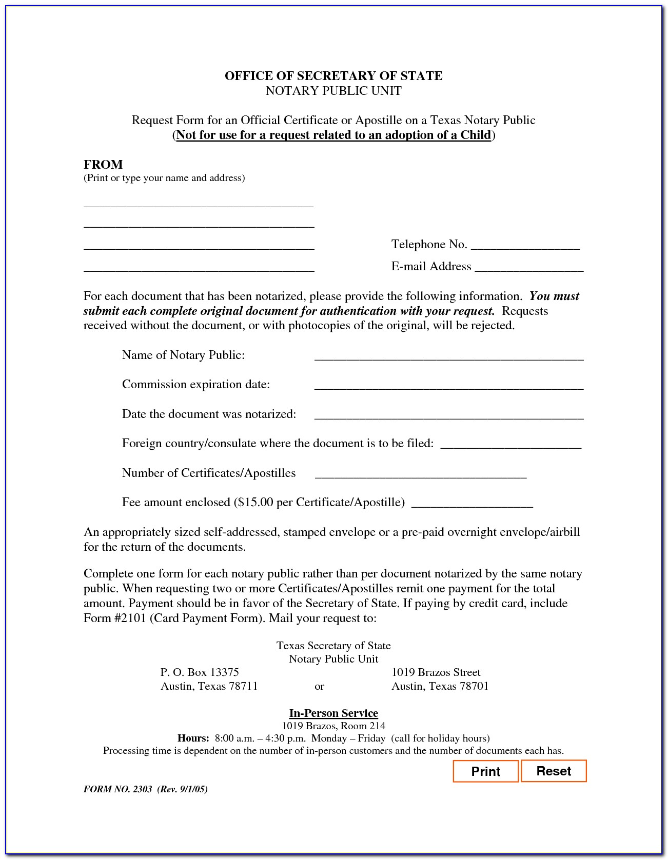 Notary Certificate Texas