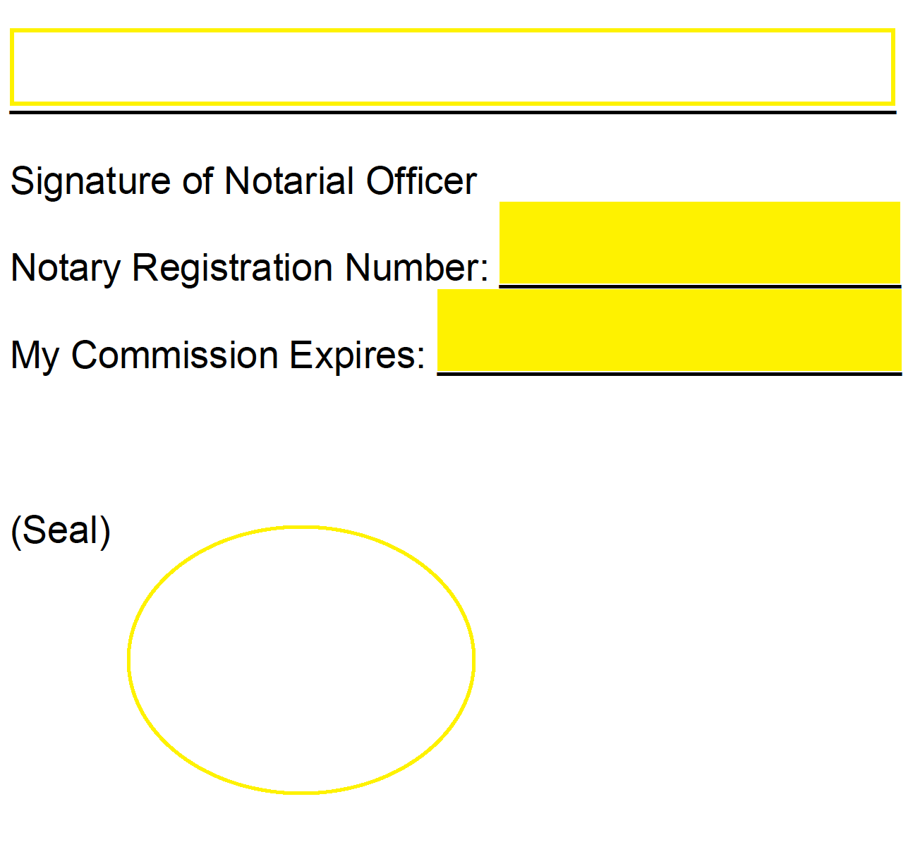 Notary Forms Sample Virginia