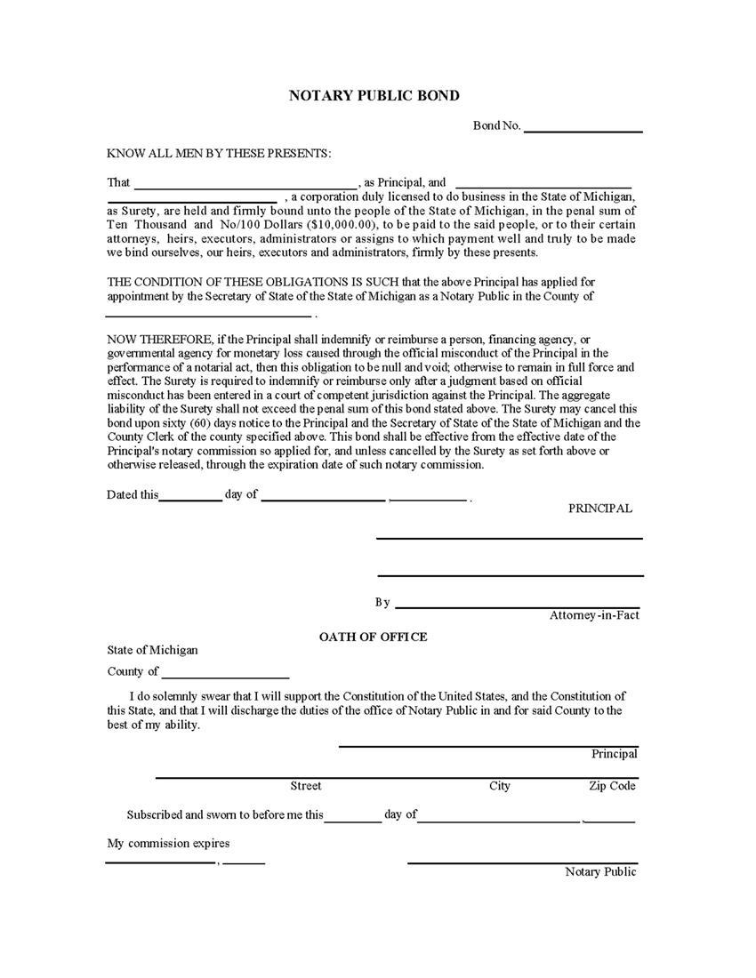 Notary Loose Certificate Form