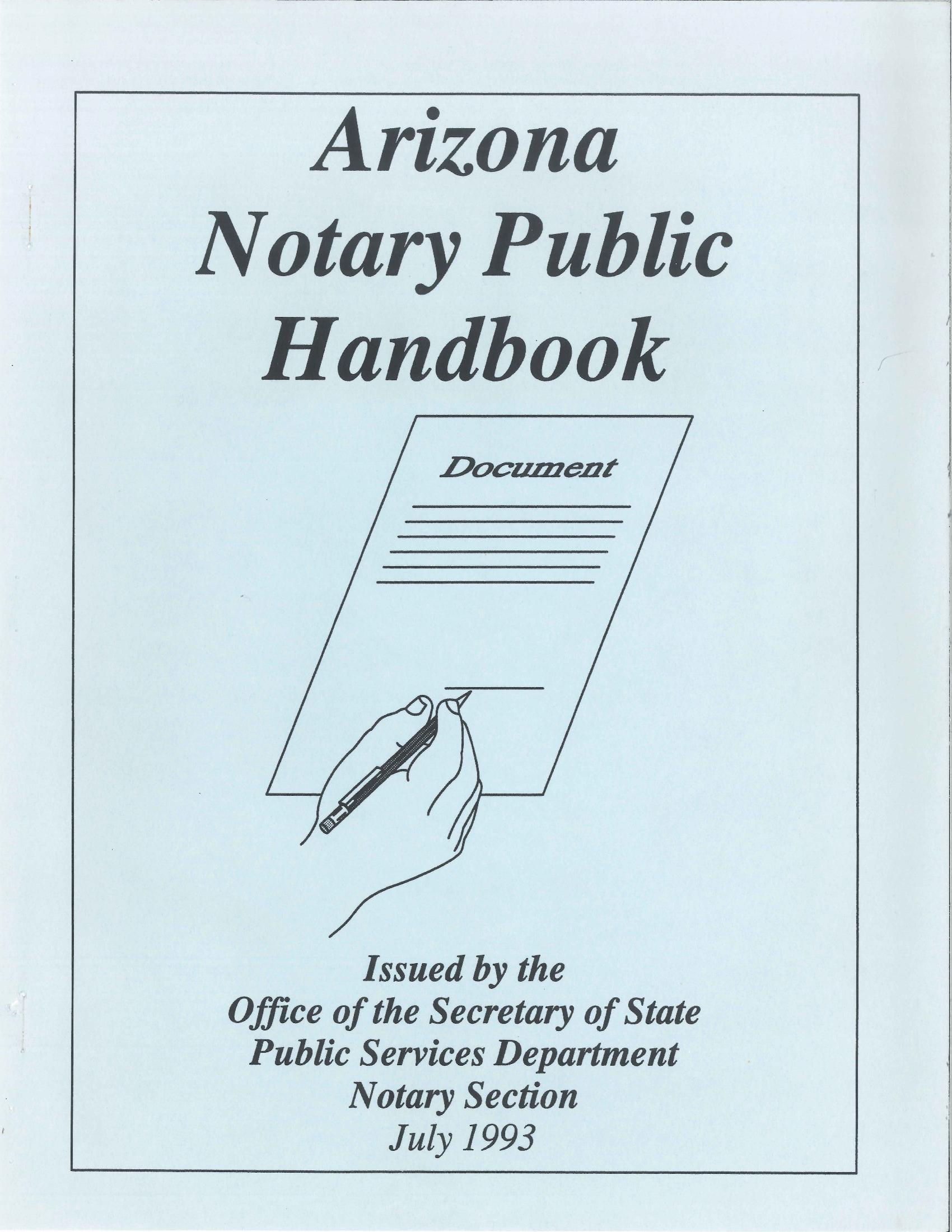 Notary Renewal Form Az