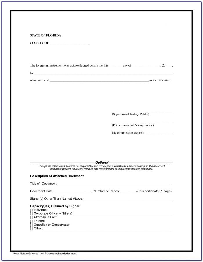 Notary Sample Forms Colorado