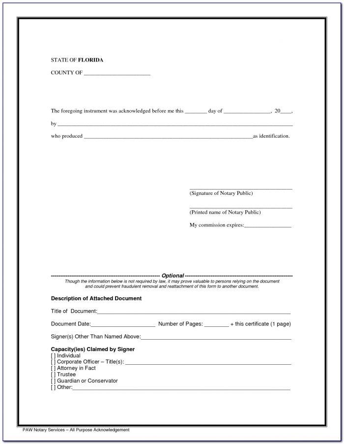 Notary Sample Forms Colorado