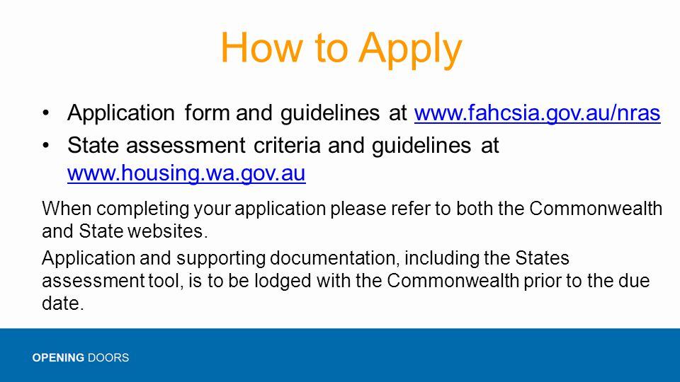 Nras Rental Application Form Wa