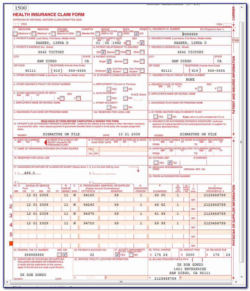 Nucc.org 1500 Claim Form