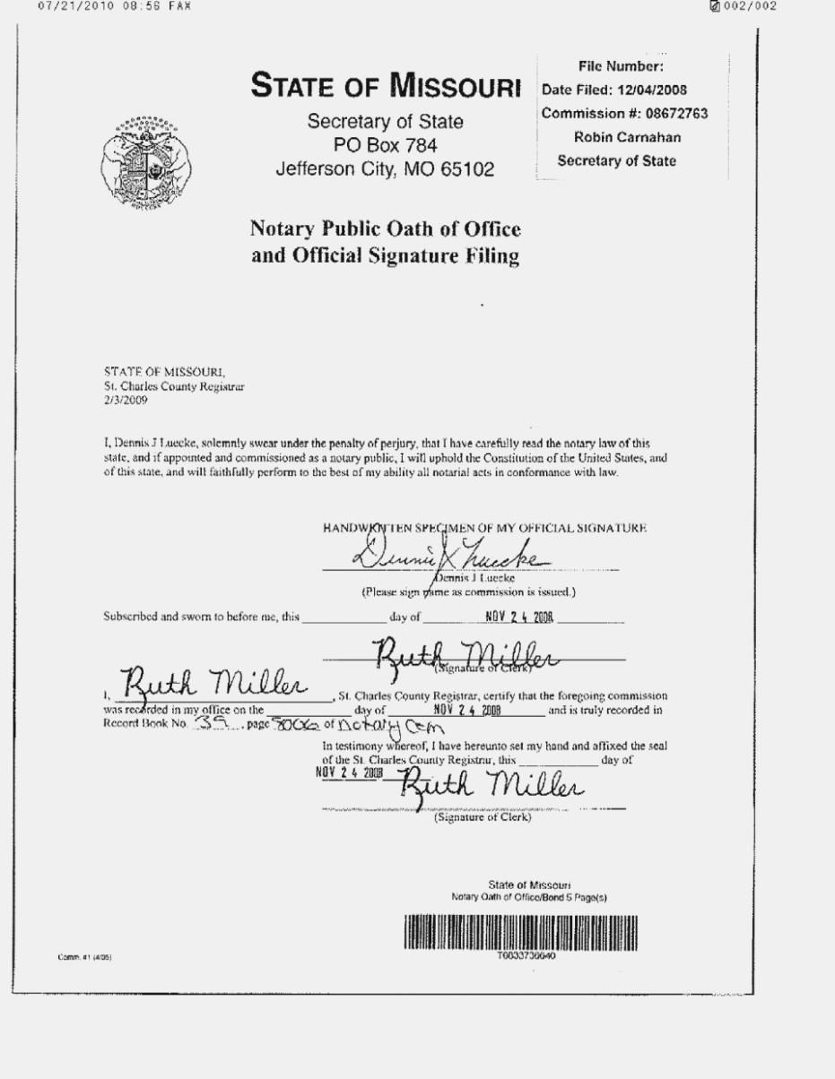 Ny Notary Affidavit Form