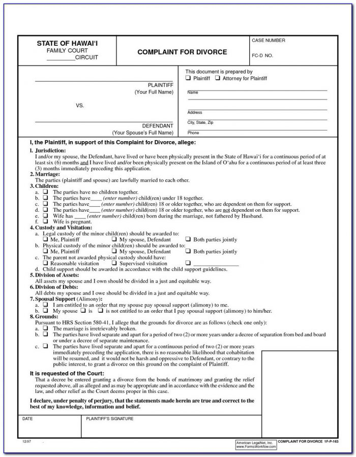 Nys Diy Uncontested Divorce Forms