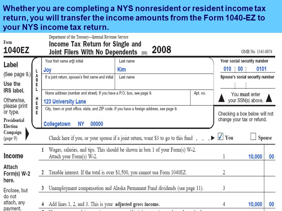 Nys Income Tax Ez Form