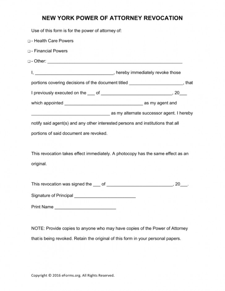 Nys Power Of Attorney Form 2017 Word