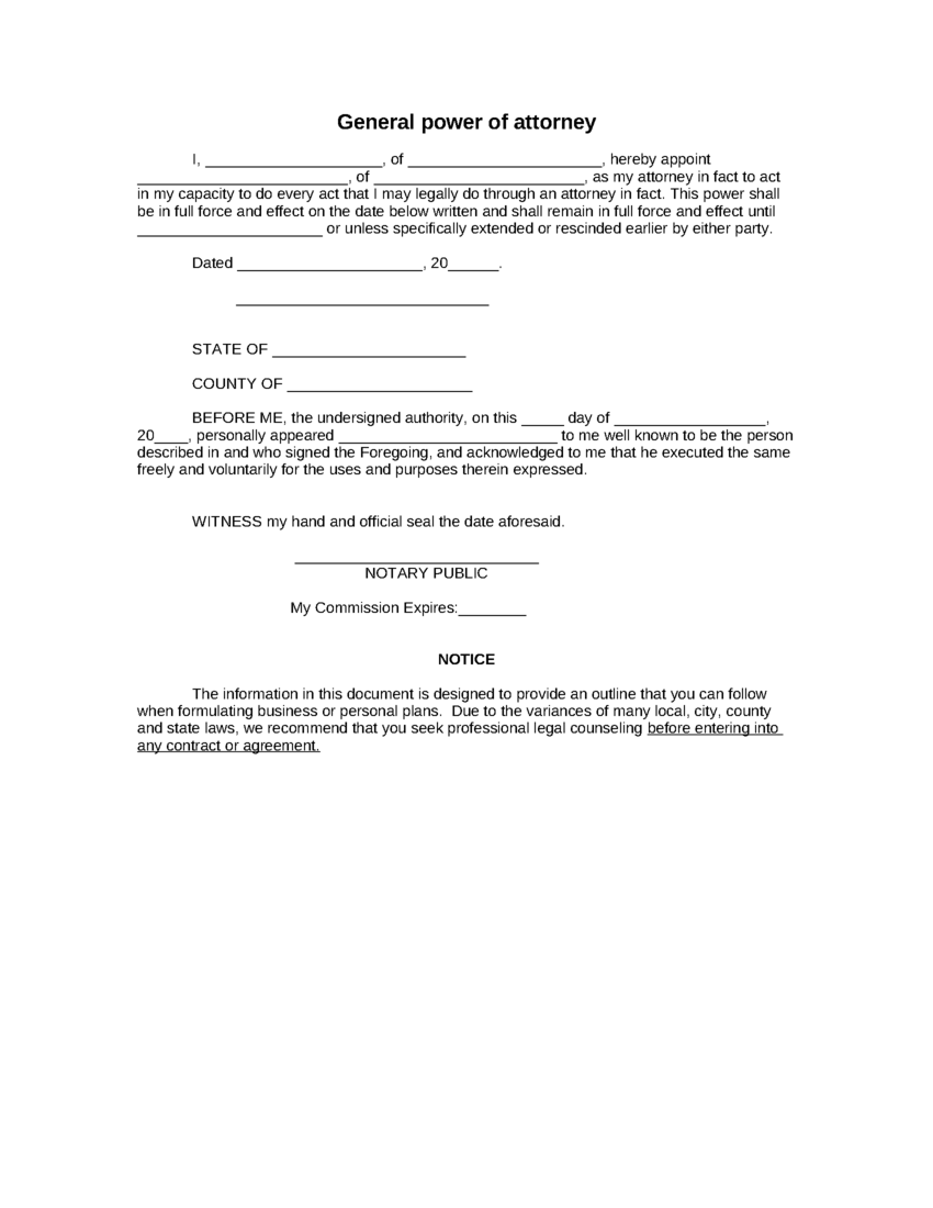 Nys Power Of Attorney Form Instructions