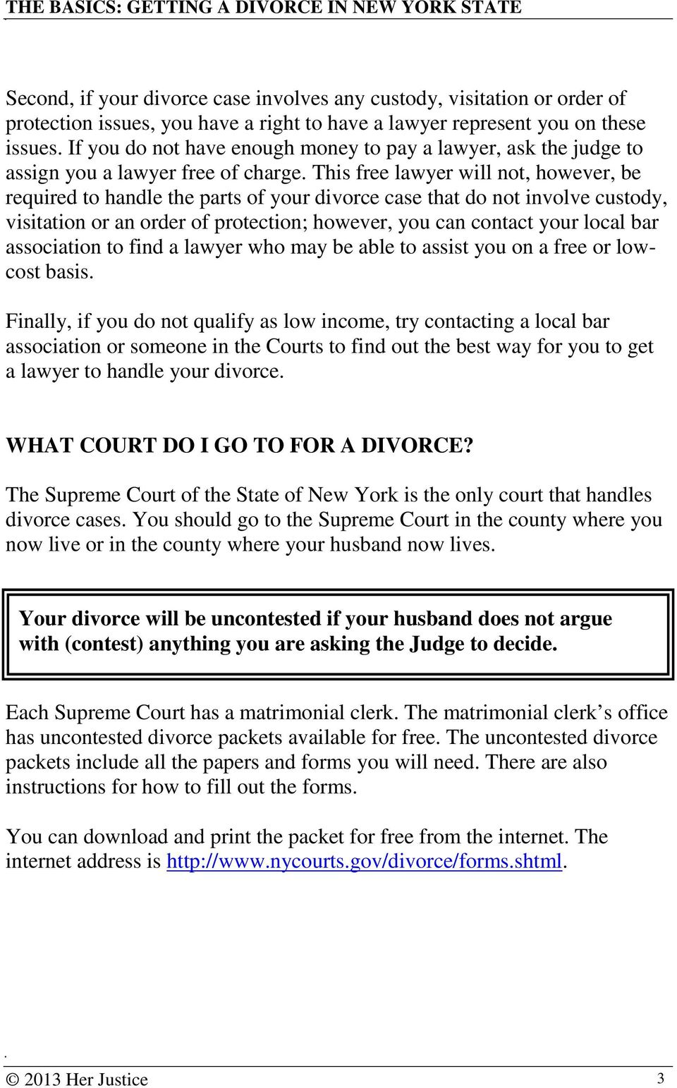 Nys Supreme Court Divorce Forms