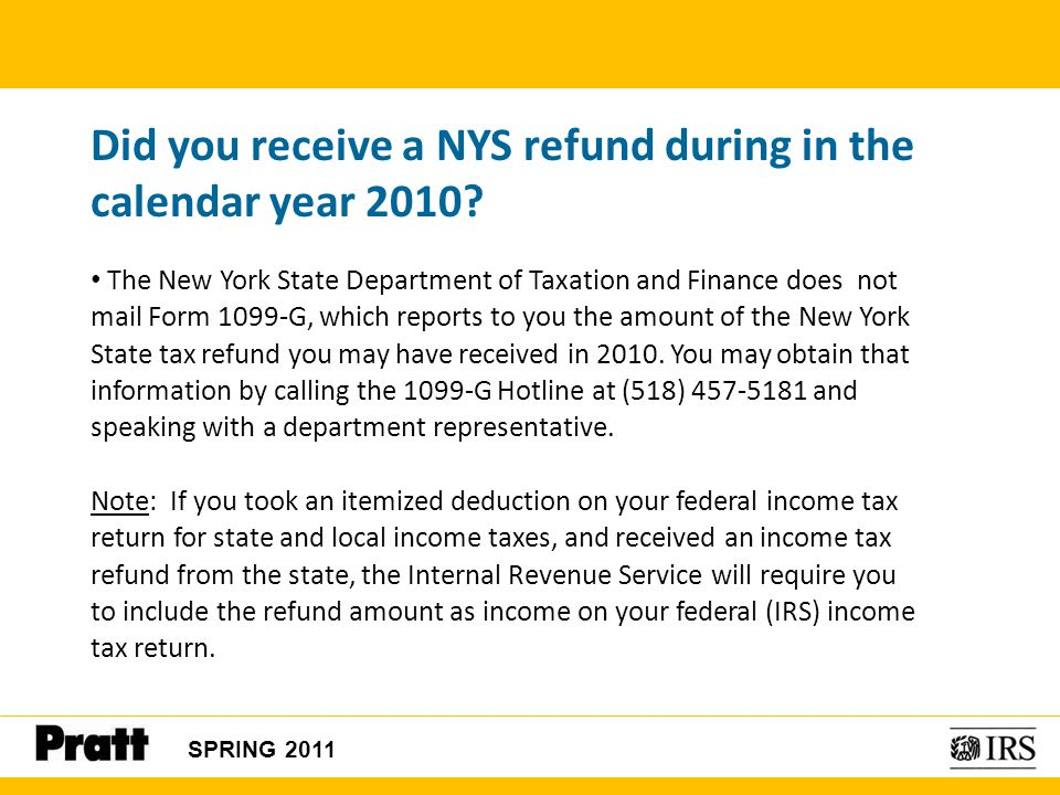 Nys Tax Refund Form 1099 G