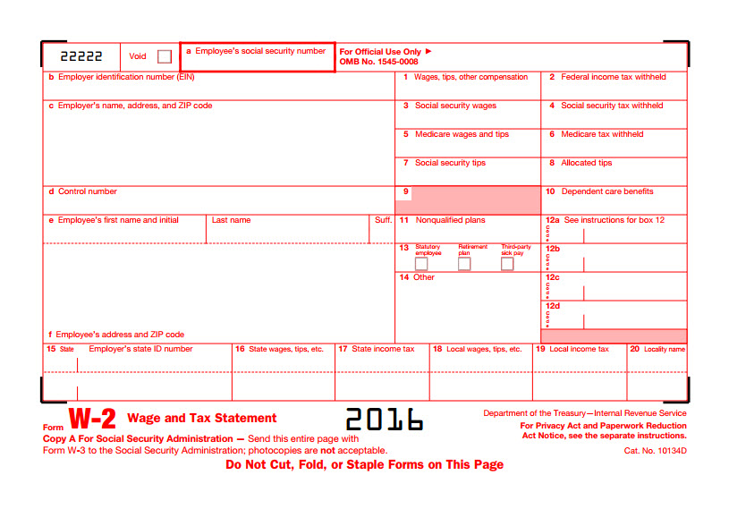 Obtaining W2 Forms