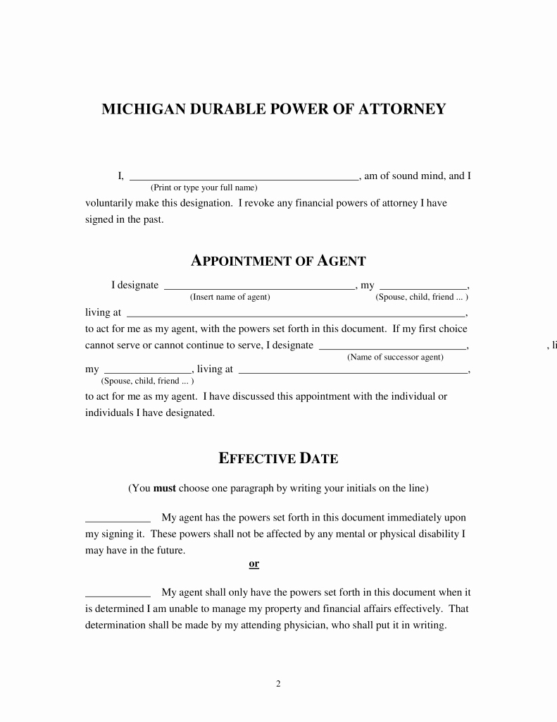 Ohio Living Will And Durable Power Of Attorney Forms