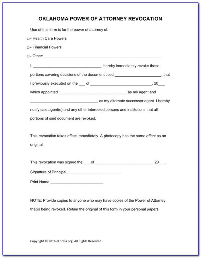Oklahoma Bar Association Durable Power Of Attorney Form