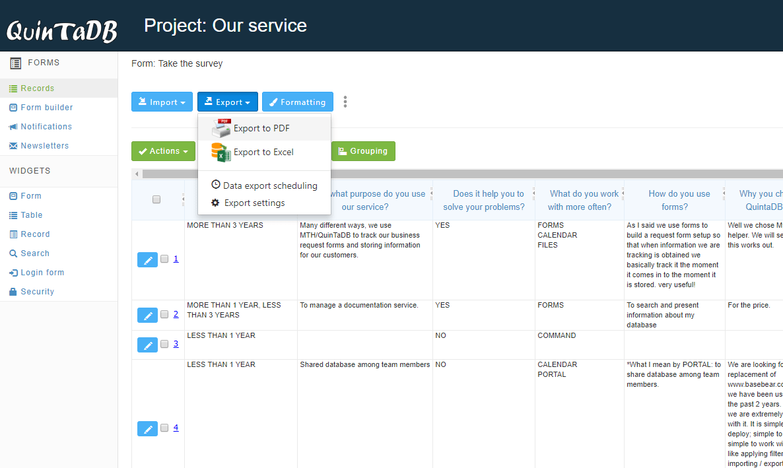 Online Database Form Creator