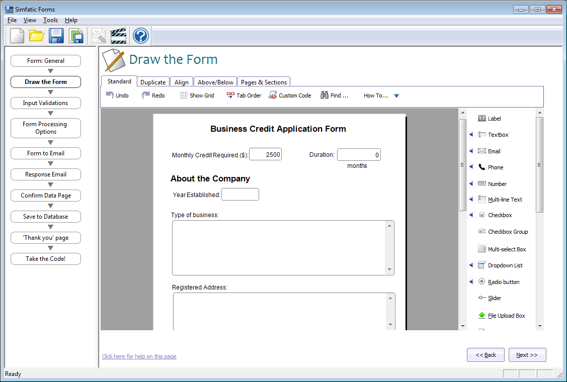 Online Mysql Form Generator