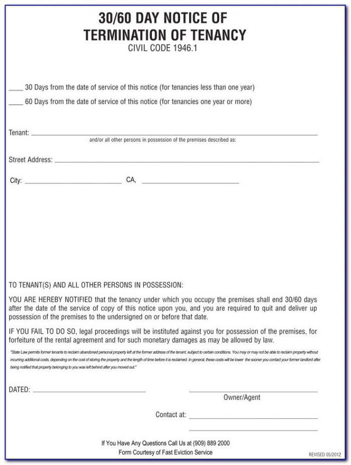 Ontario Landlord Eviction Notice Form