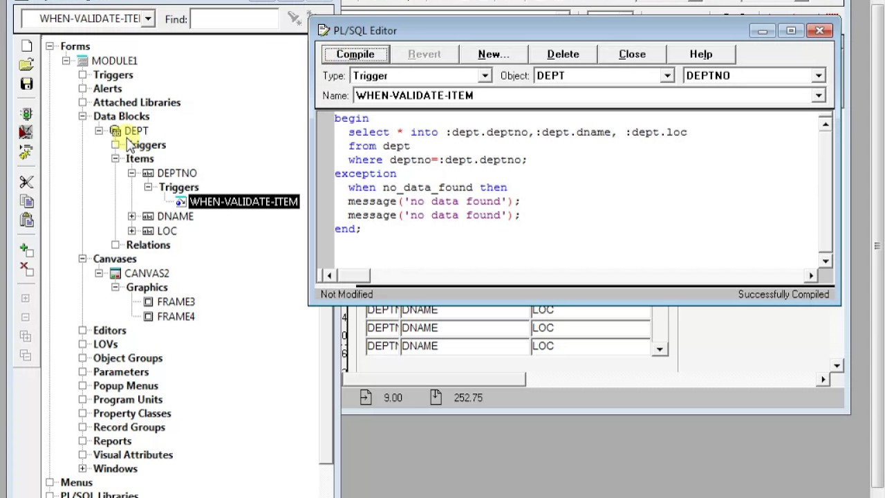 Oracle Forms Pl Sql Table