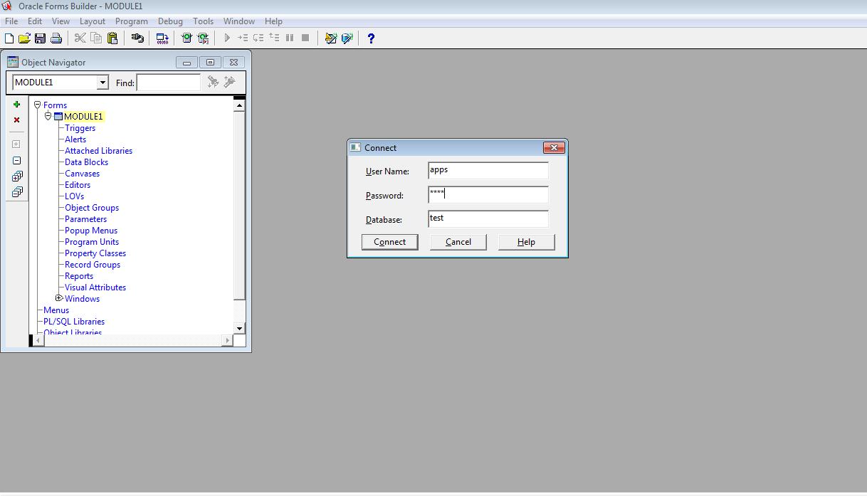 Oracle Sql Form Builder