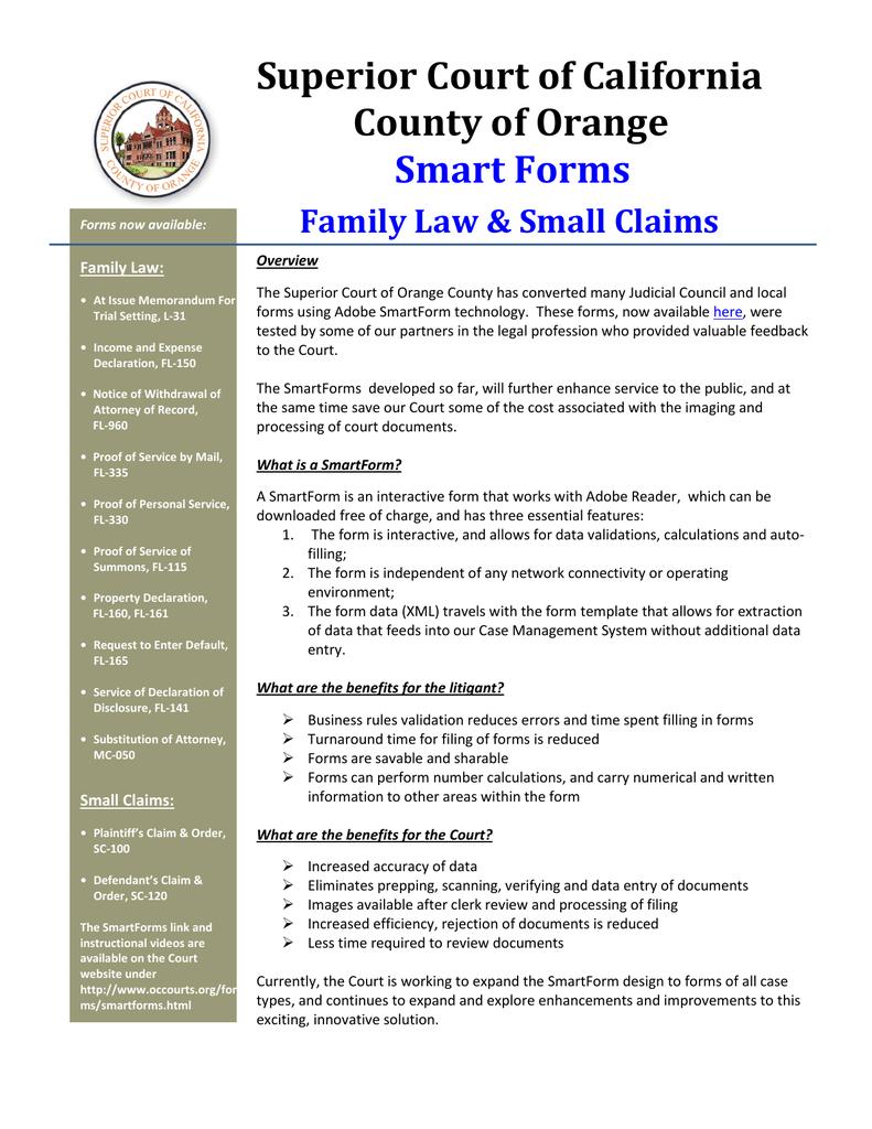 Orange County Superior Court Forms