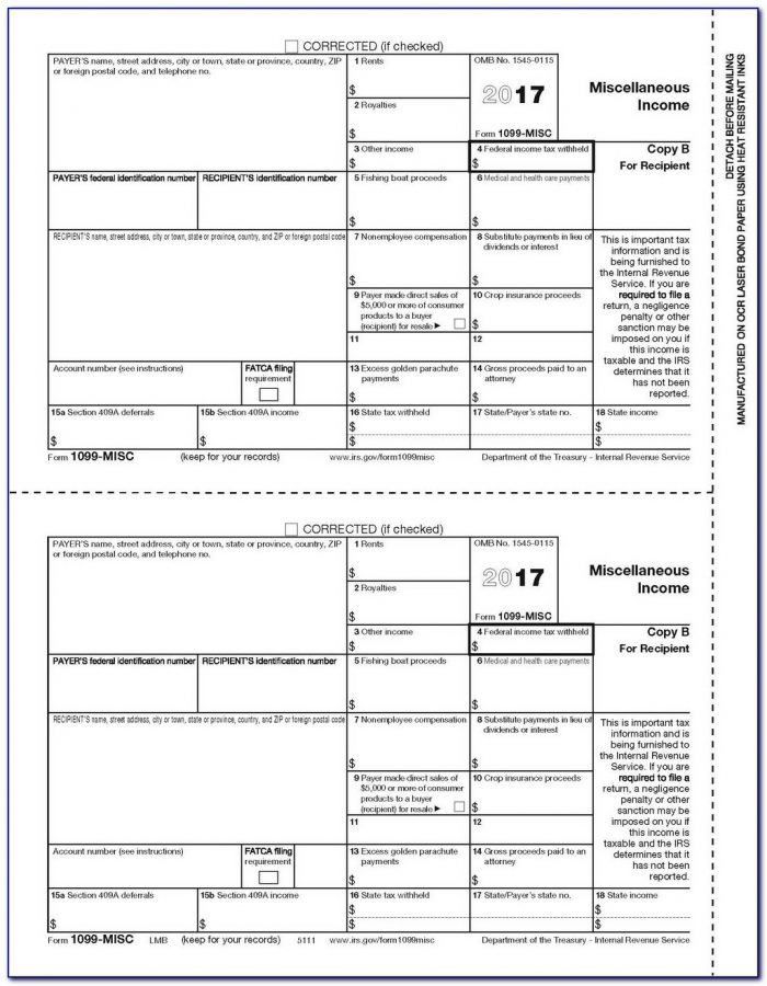 Order 1099 And 1096 Forms