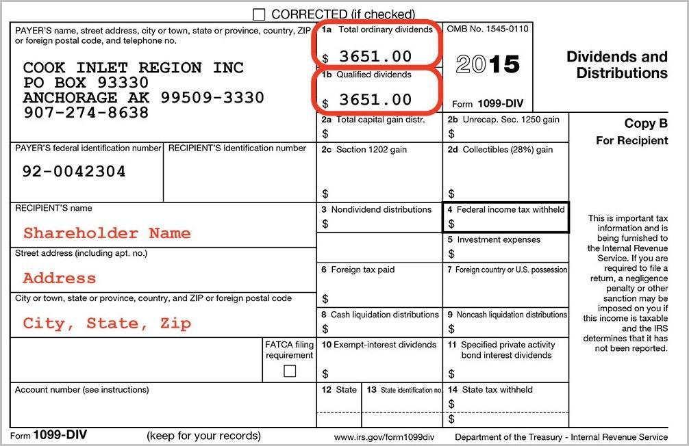 Order 1099 Div Forms