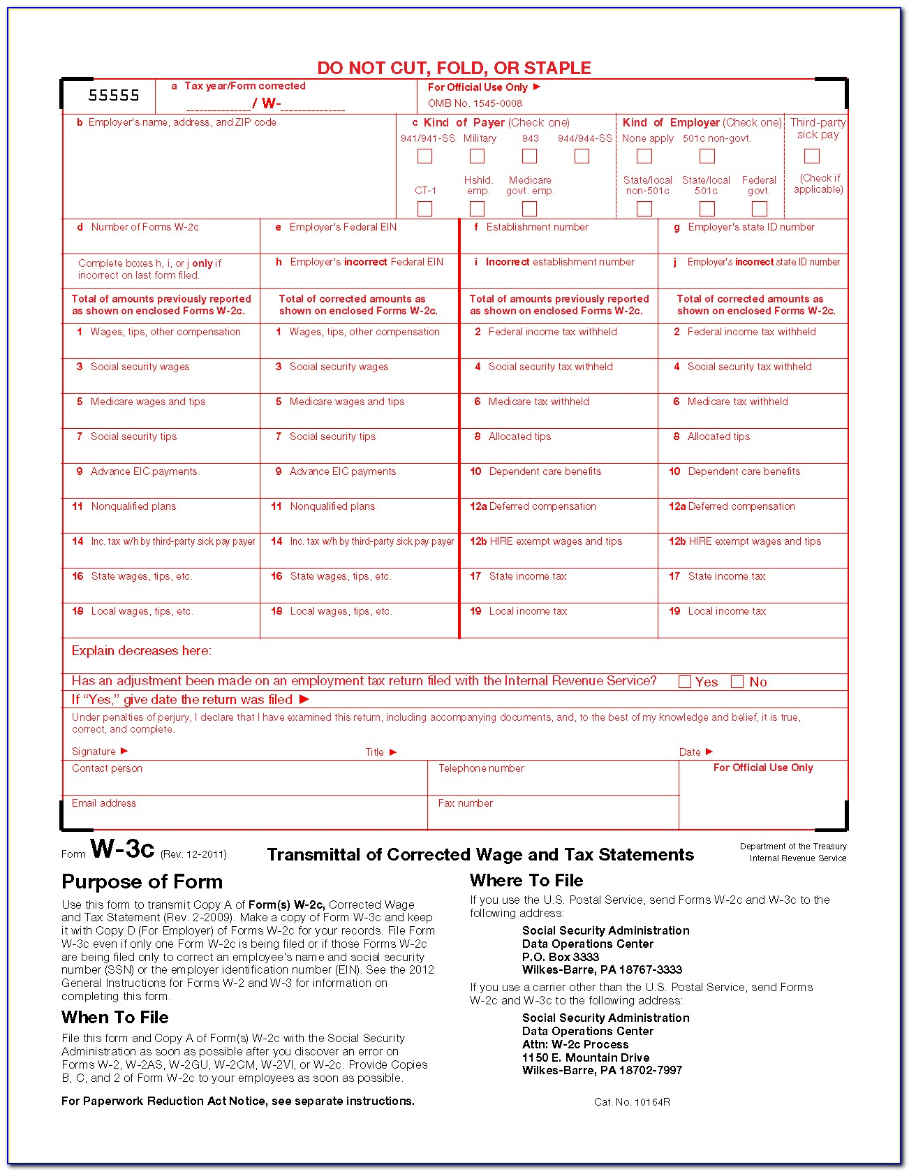Order W2 Forms From Irs