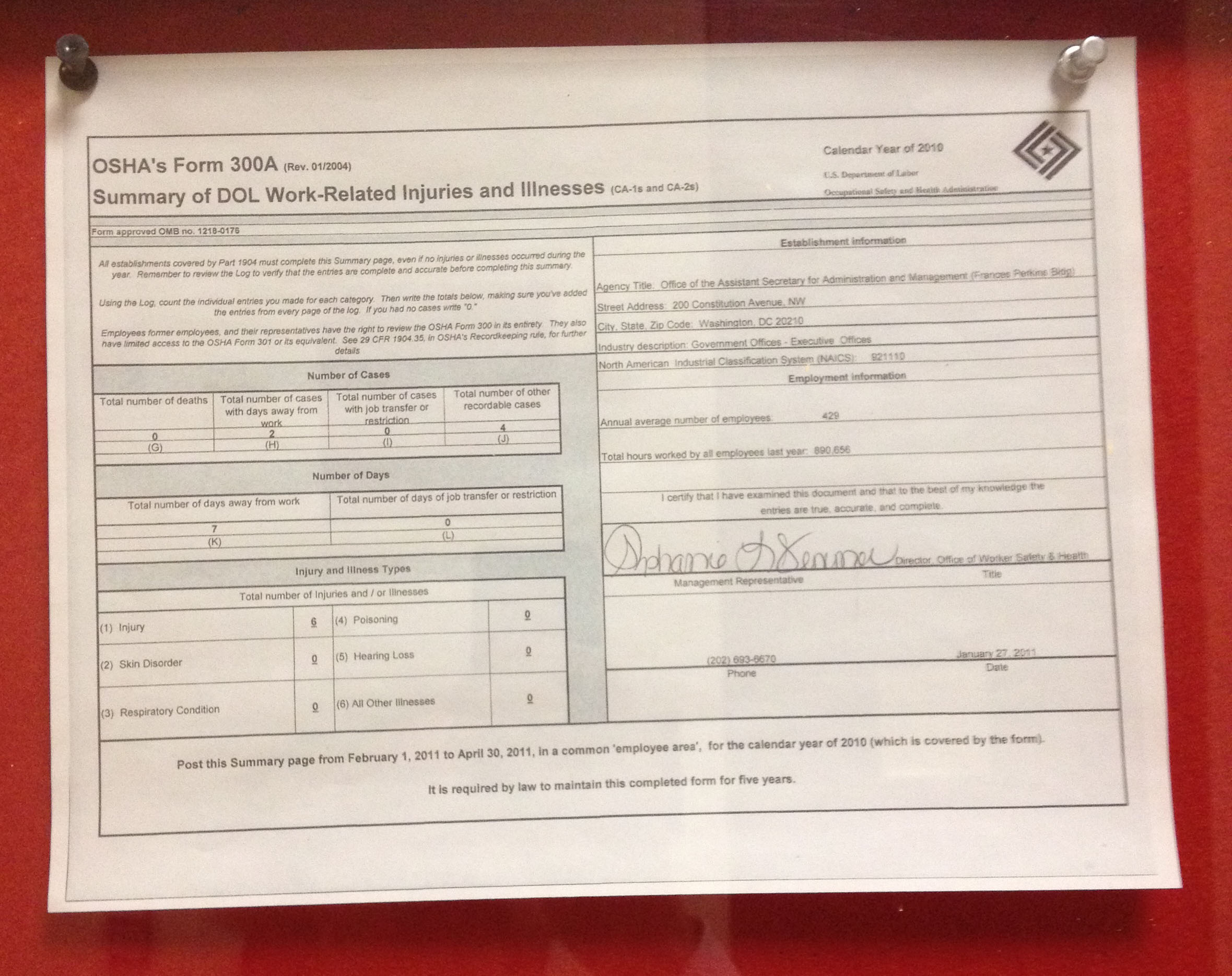 Osha 300 Log Form Excel