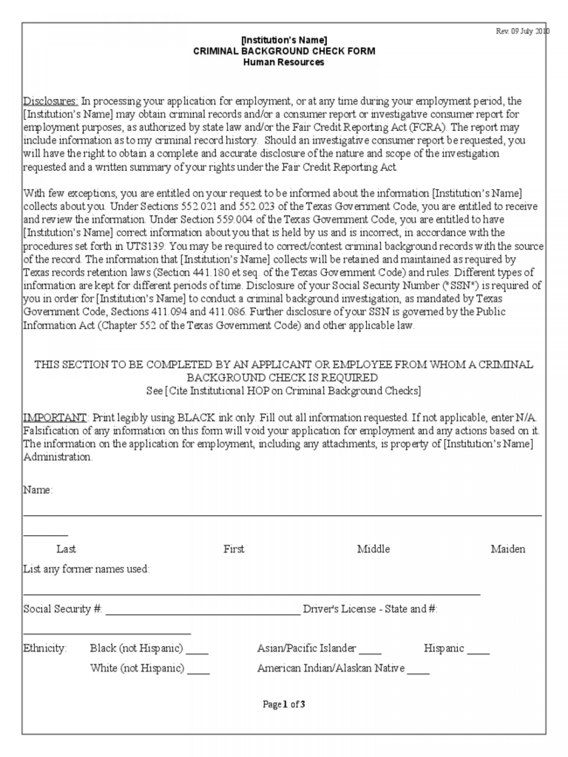 Pa Criminal History Background Check Form