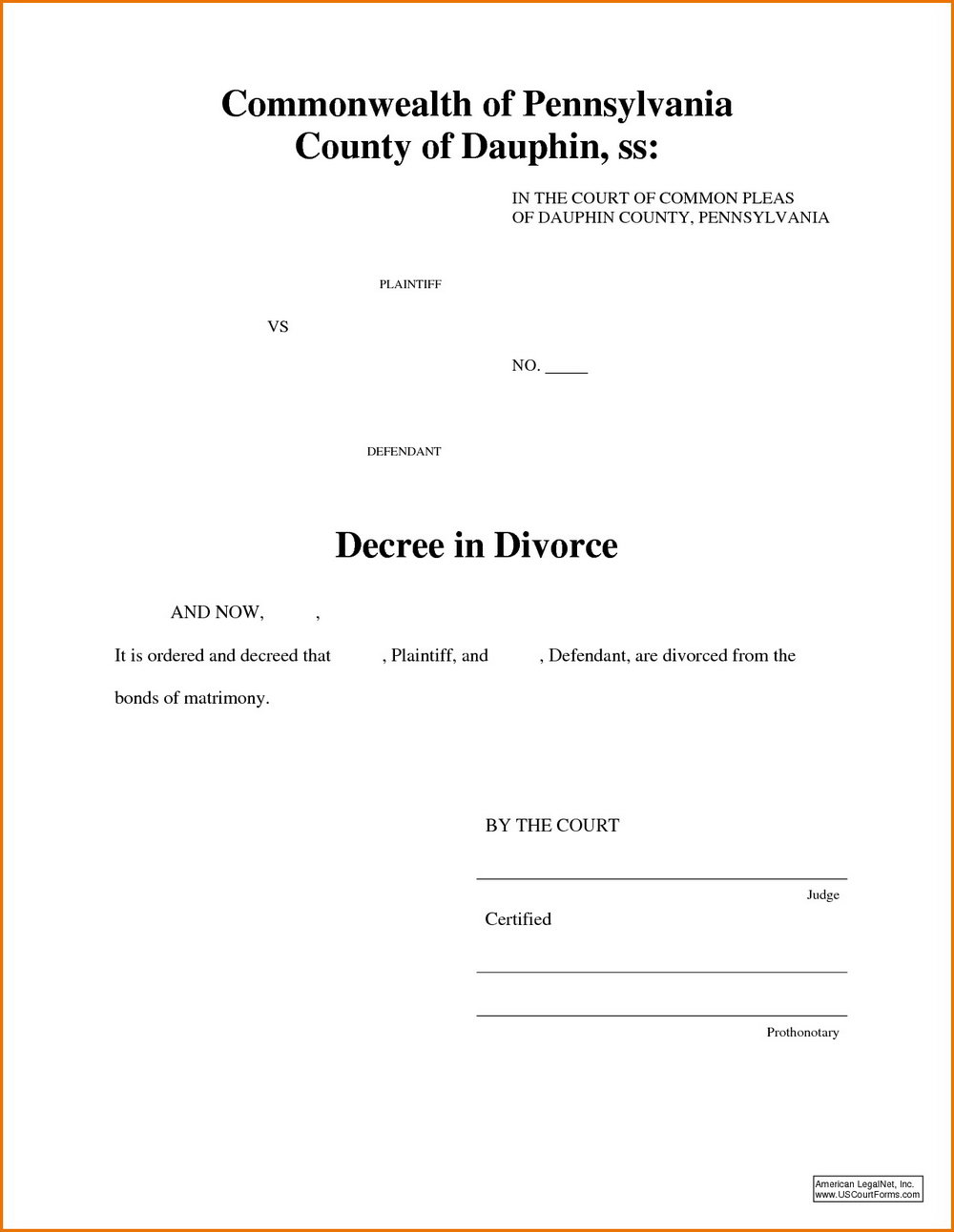 Pa Divorce Forms Uncontested