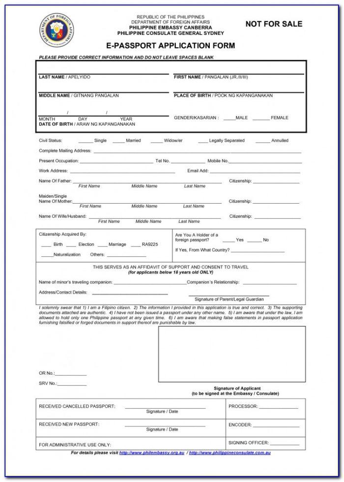 Passport Renewal Form Philippines