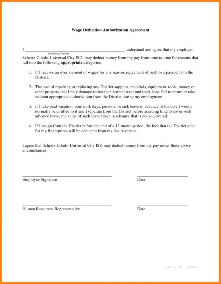 Payroll Deduction Form Template Australia