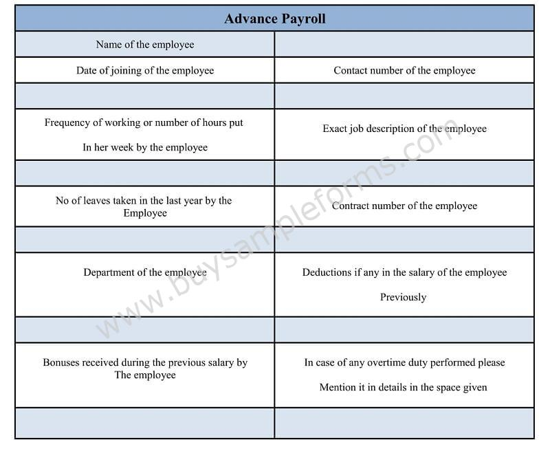 Payroll Deduction Form Word