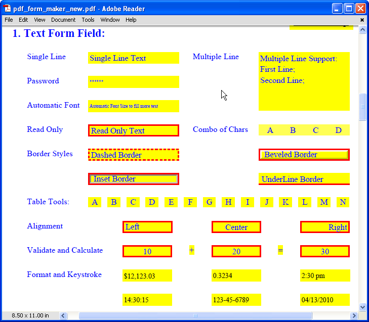 Pdf Editable Form Online