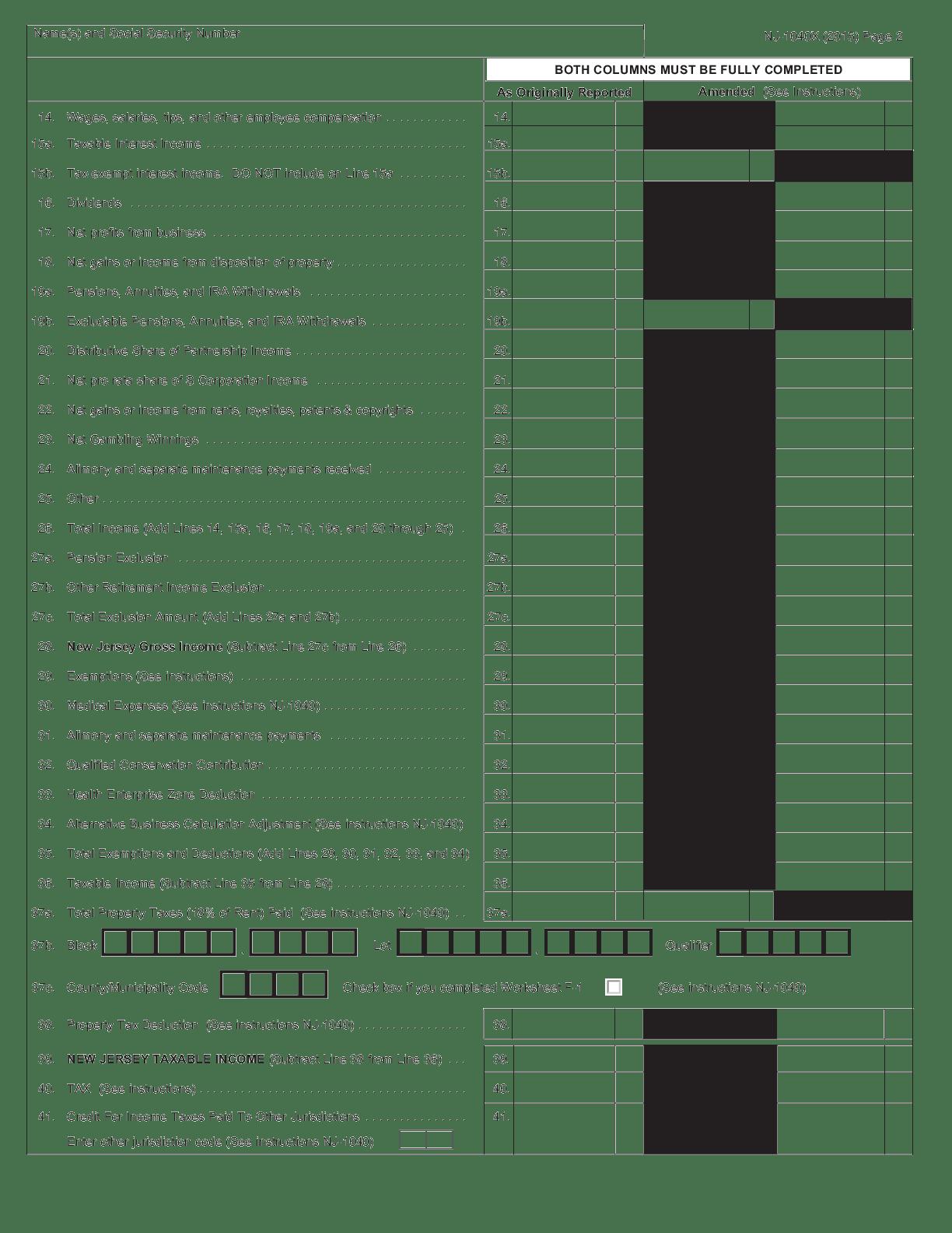 Pdf Fillable Form 1040x