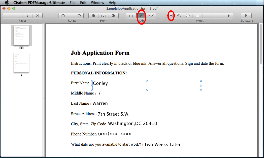 Pdf Fillable Form Mac Free