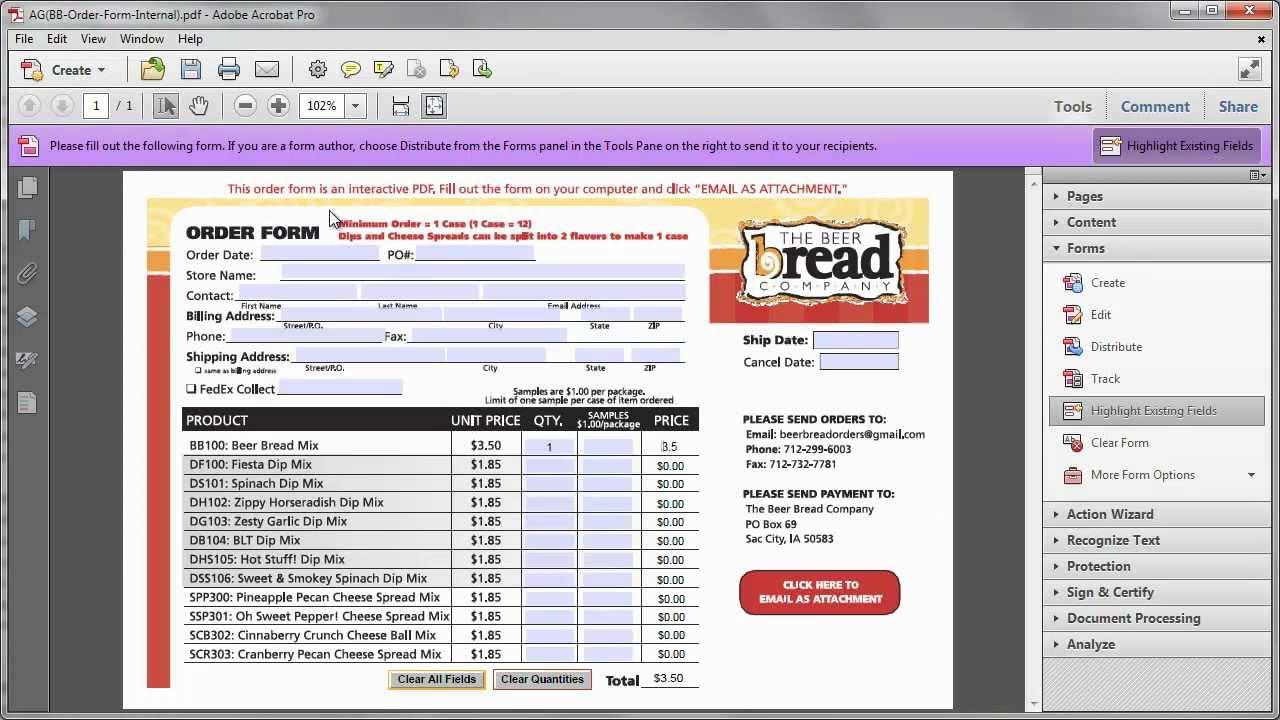 Pdf Form Editable Fields