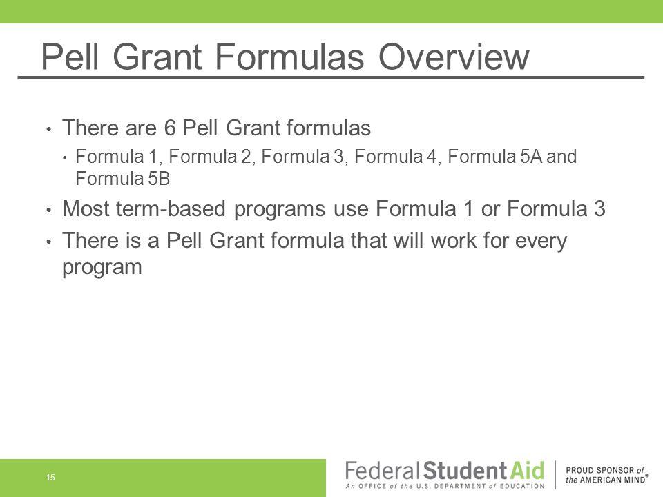 Pell Grant Formula 3