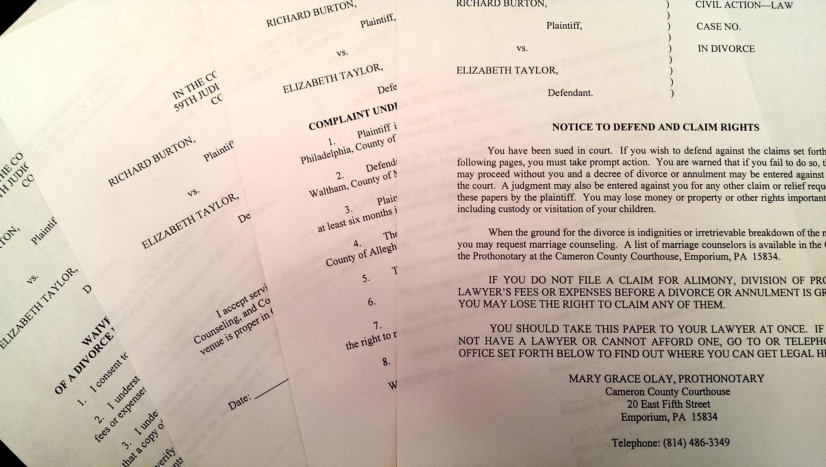Pennsylvania Divorce Filing Requirements