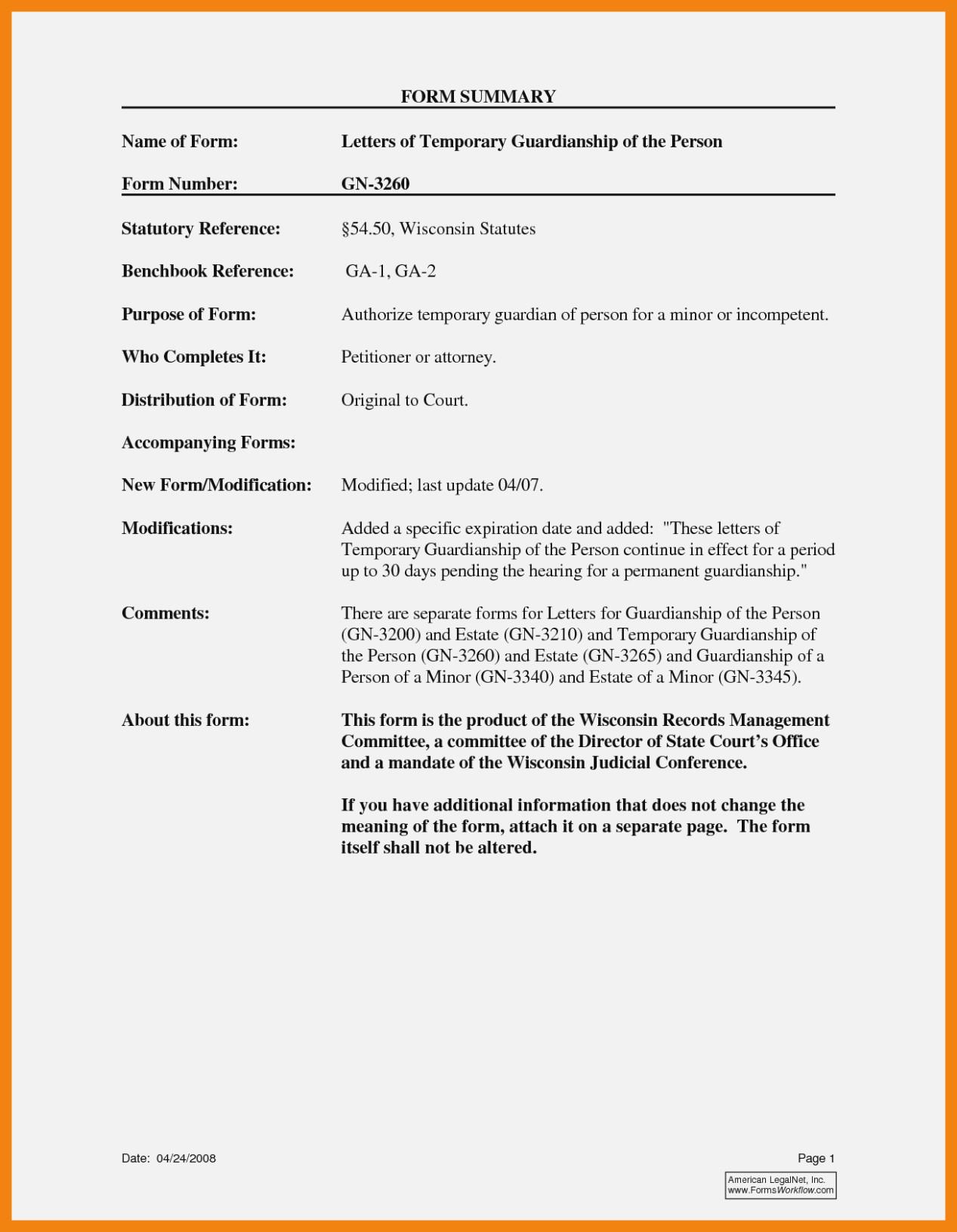 Permanent Guardianship Form Michigan