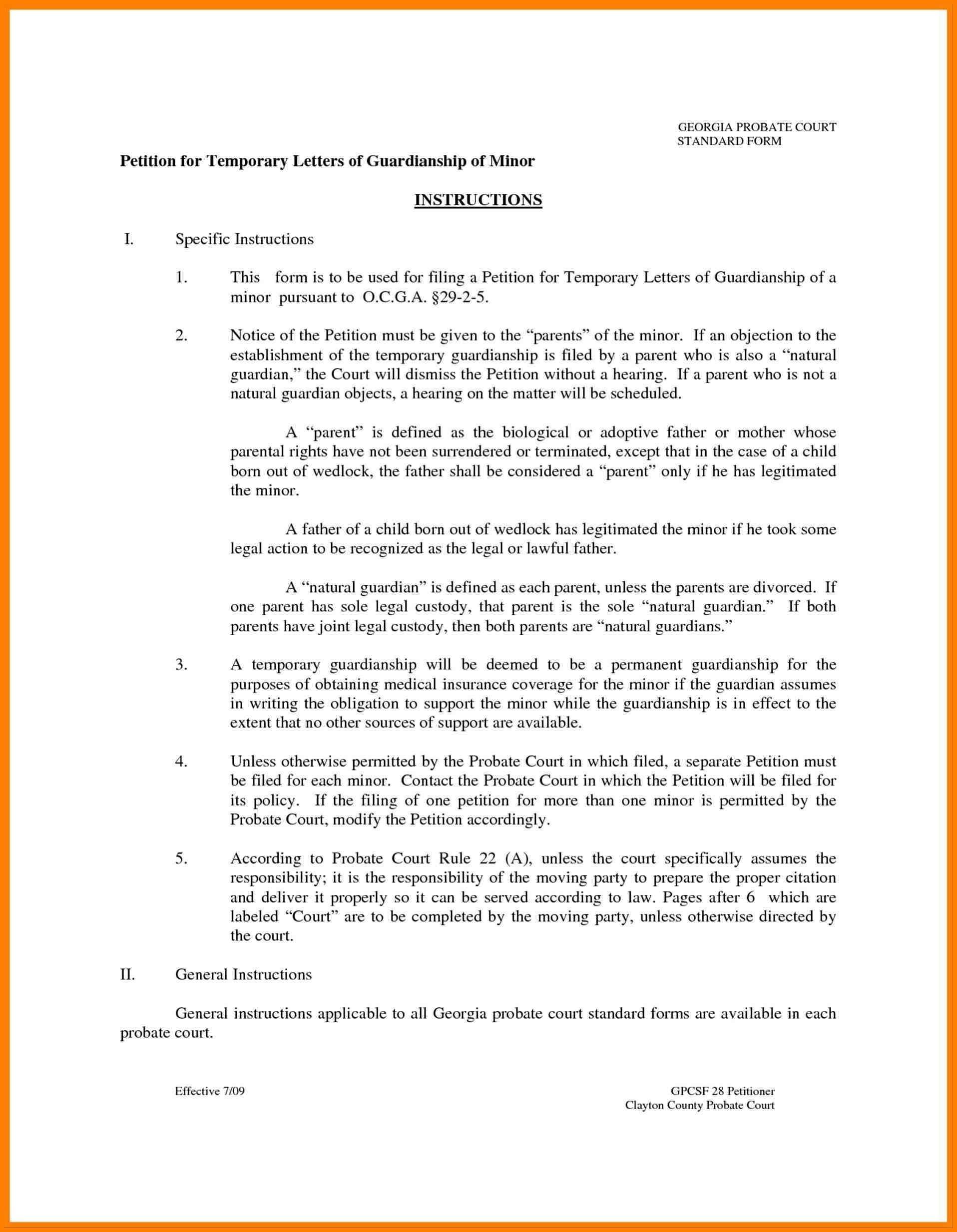 Permanent Legal Guardianship Forms